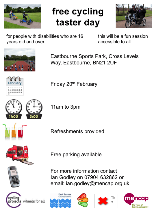 Cycling Taster Day - 20th Feb 2015